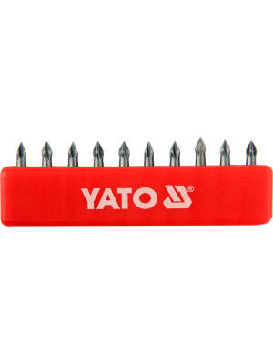 "YT-0473, Bit PH0x25mm 1/4"" set 10, Yato"