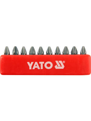 "YT-0475, Bit PH 2X25mm 1/4"" set 10, Yato"