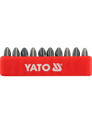 "YT-0476, Bit PH 3X25mm 1/4"" set 10, Yato"